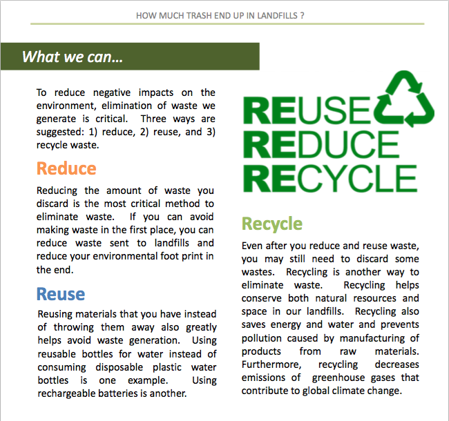 Readingreduce Reuse Recycle